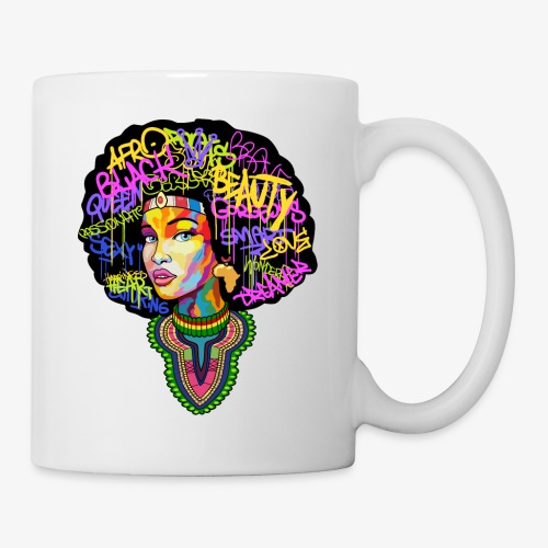 Afro Queen Dashiki - Coffee/Tea Mug