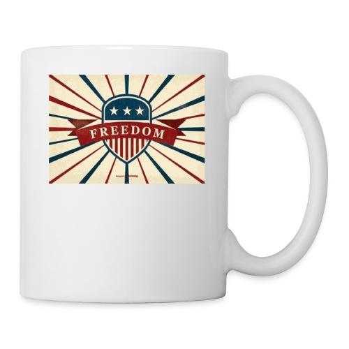 vector retro freedom illustration - Coffee/Tea Mug