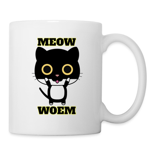 MEOW CAT T-SHIRT - Coffee/Tea Mug