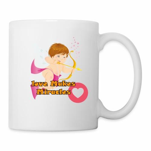 Love Makes Miracles t-shirt - Coffee/Tea Mug