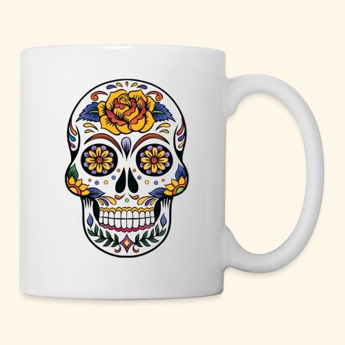 Men Women Flower Sugar Skull Shirt Day of the Dead - Coffee/Tea Mug