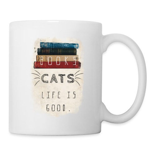 Books and cats design - Coffee/Tea Mug
