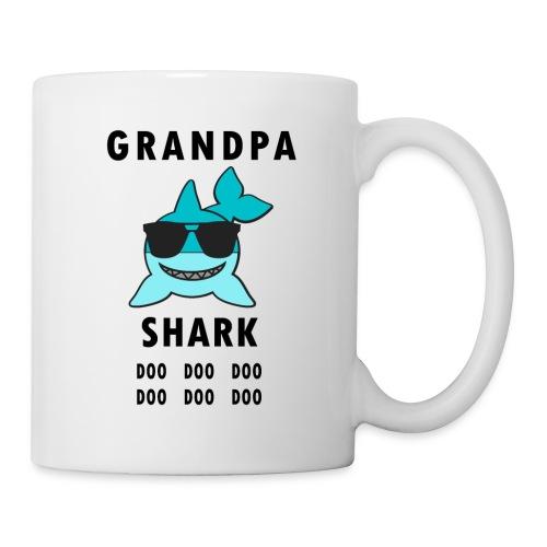 Grandpa Shark Doo Doo Doo Funny Shark - Coffee/Tea Mug