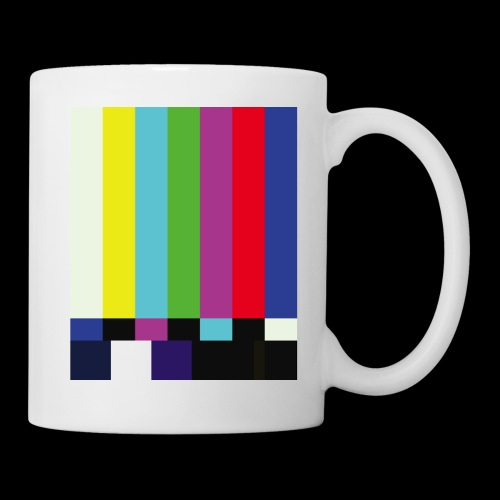 This is a TV Test | Retro Television Broadcast - Coffee/Tea Mug