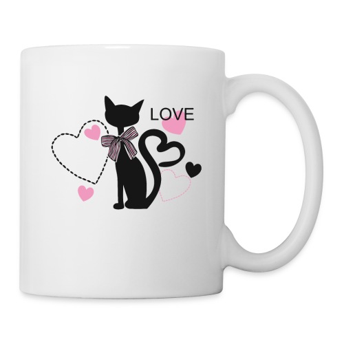 love cat shirt - Coffee/Tea Mug