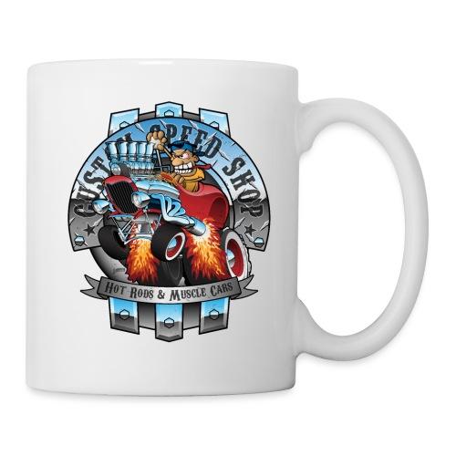 Custom Speed Shop Hot Rods and Muscle Cars Illustr - Coffee/Tea Mug