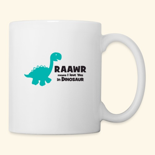 Dino RAAWR Means I Love You Tee - Coffee/Tea Mug