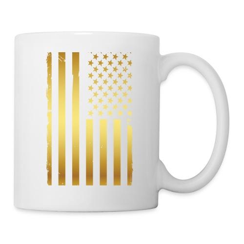 Golden american flag - Coffee/Tea Mug