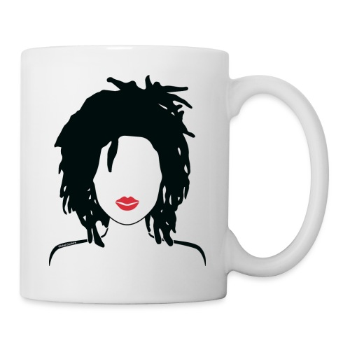 Locs & Lipstick_Global Couture Women's T-Shirts - Coffee/Tea Mug