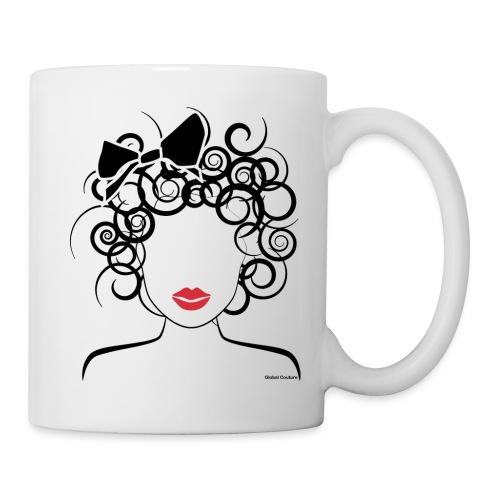 Global Couture logo_curly girl Phone & Tablet Case - Coffee/Tea Mug