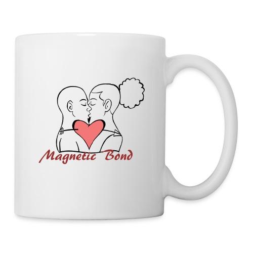 Use this Kissing couple Magnetic Bond white hea - Coffee/Tea Mug