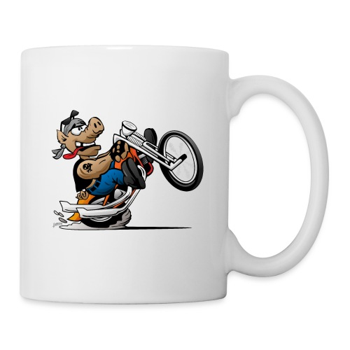 Biker Hog Motorcycle Cartoon - Coffee/Tea Mug