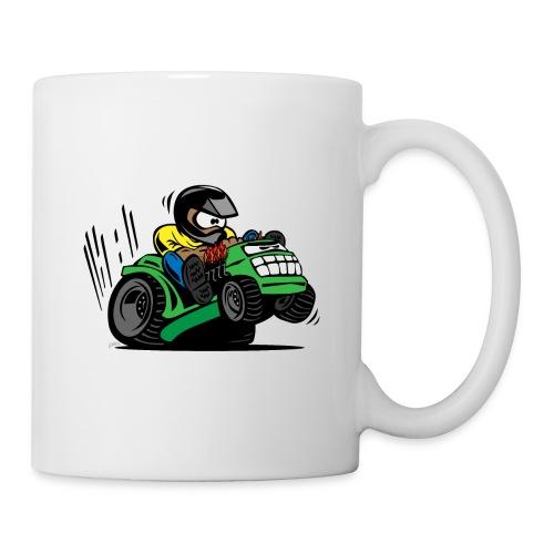 Racing Lawn Mower Cartoon - Coffee/Tea Mug