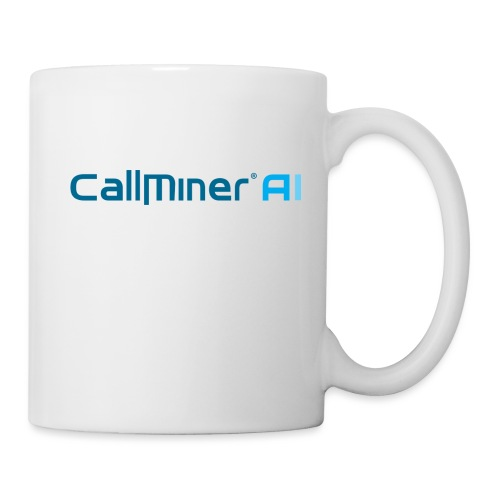 CallMiner AI - Blue on Light Swag - Coffee/Tea Mug