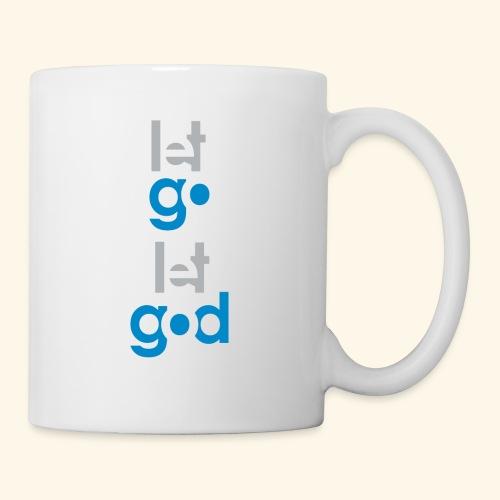 LET GO LET GOD GREY/BLUE #7 - Coffee/Tea Mug