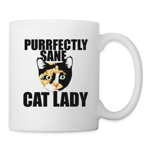 Purrfectly sane cat lady - Coffee/Tea Mug