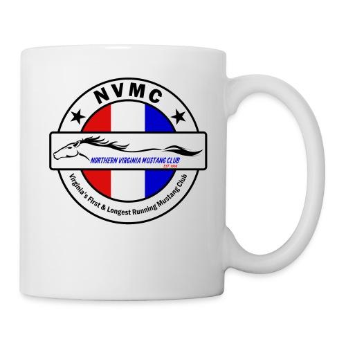Circle logo on white with black border - Coffee/Tea Mug