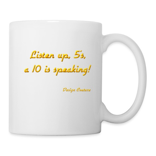 LISTEN UP 5 S ORANGE - Coffee/Tea Mug