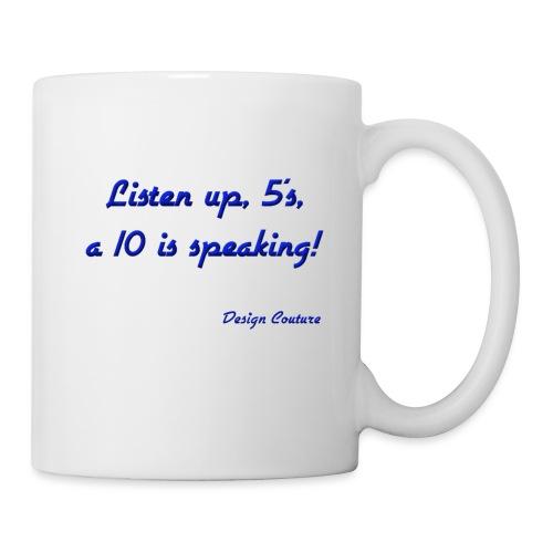 LISTEN UP 5 S BLUE - Coffee/Tea Mug
