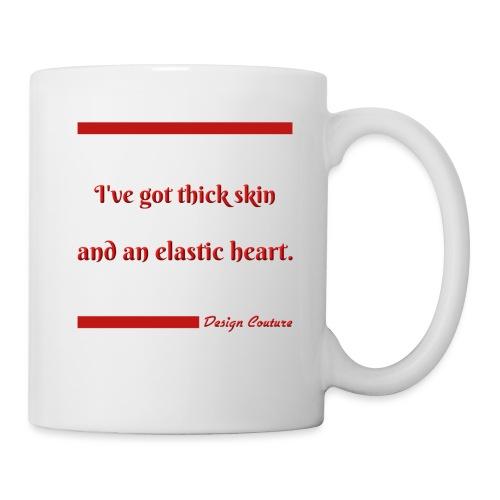 I VE GOT THICK SKIN RED - Coffee/Tea Mug