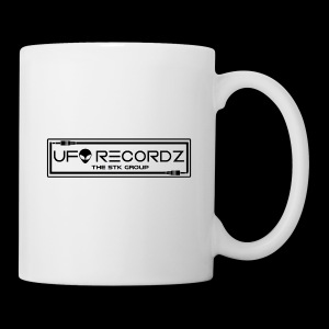 UFO RECORDZ White on Black - Coffee/Tea Mug