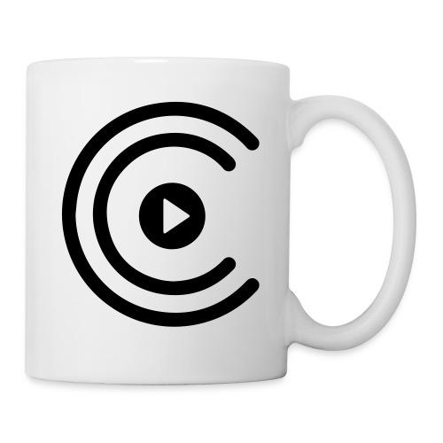 CreatiCrew Logo (White) - Coffee/Tea Mug
