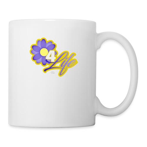 purp flowersss - Coffee/Tea Mug