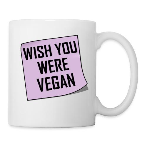Wish You Were Vegan - sticky note - Coffee/Tea Mug