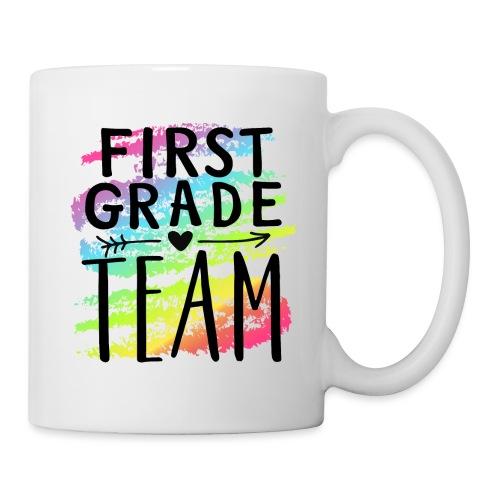 First Grade Team Crayon Splash Teacher T-Shirts - Coffee/Tea Mug