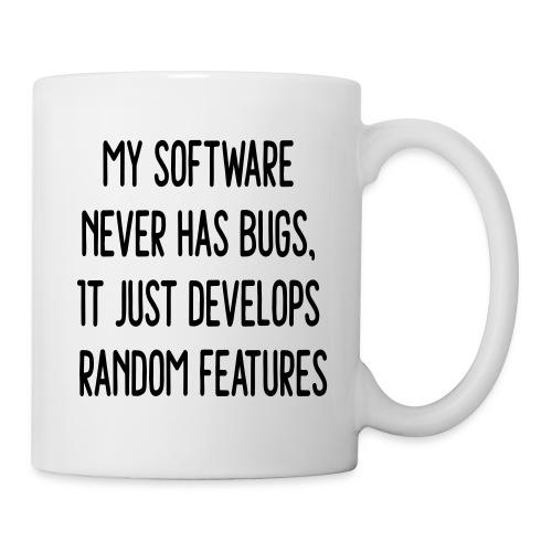 Software Develops Random Features - Coffee/Tea Mug