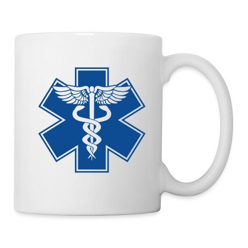 EMT Health Care Caduceus Blue Medical Symbol - Coffee/Tea Mug