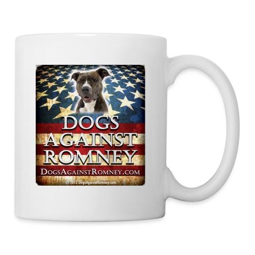 pitbulldogsagainstromneyflag - Coffee/Tea Mug