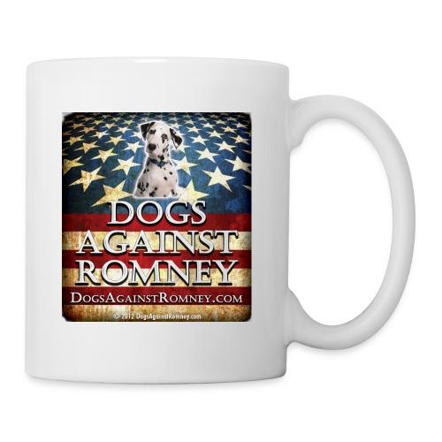 dolmationdogsagainstromneyflag - Coffee/Tea Mug