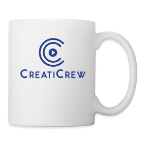 CreatiCrew Logo w/ Text (Blue) - Coffee/Tea Mug