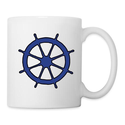 Steering Wheel Sailor Sailing Boating Yachting - Coffee/Tea Mug
