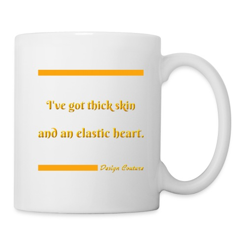 I VE GOT THICK SKIN ORANGE - Coffee/Tea Mug