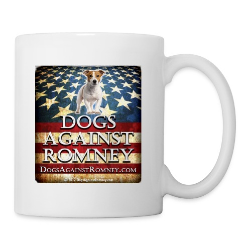 jackrusseldogsagainstromneyflag - Coffee/Tea Mug