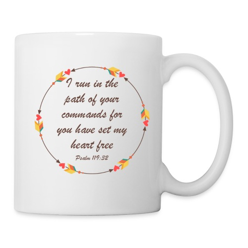 Psalm 119 32 - Coffee/Tea Mug