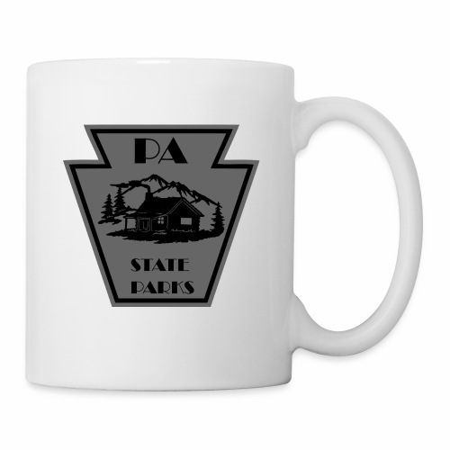 Keystone with Cabin Black and Grey - Coffee/Tea Mug
