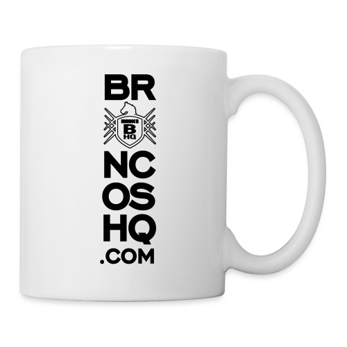 BroncosHQ Vertical Text White - Coffee/Tea Mug