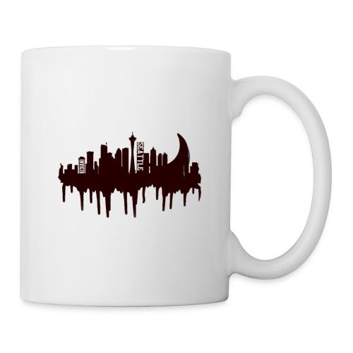Seattle Moon and Skyline - Coffee/Tea Mug