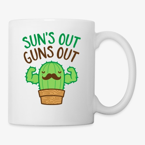 Sun's Out Guns Out Macho Cactus - Coffee/Tea Mug