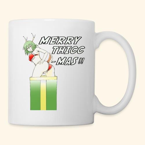 Christmas Art - Reindeer Merry Thicc Mas - Coffee/Tea Mug