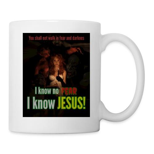 I know no fear - I know Jesus! Illustration & text - Coffee/Tea Mug