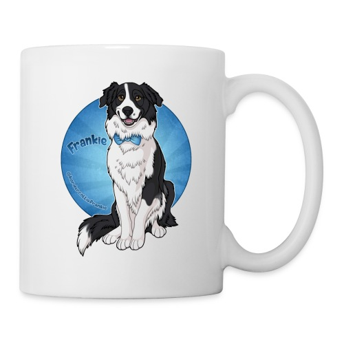 Border Collie Frankie Full Colour With Name - Coffee/Tea Mug
