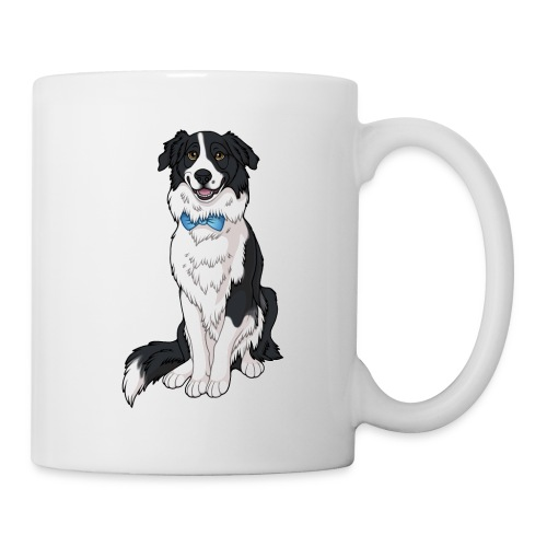 Border Collie Frankie - Transparent Background - Coffee/Tea Mug