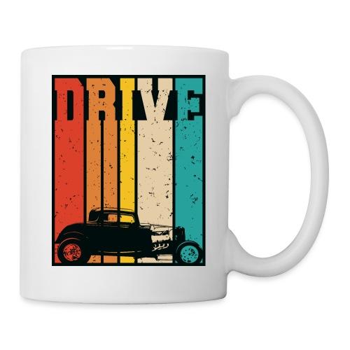 Drive Retro Hot Rod Car Lovers Illustration - Coffee/Tea Mug