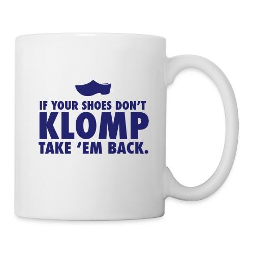 07 Klomp blue lettering - Coffee/Tea Mug