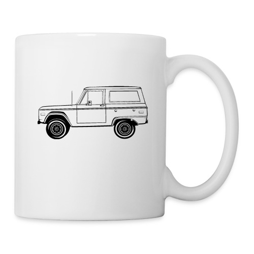 Bronco Truck Line Art Men's T-Shirt - Coffee/Tea Mug