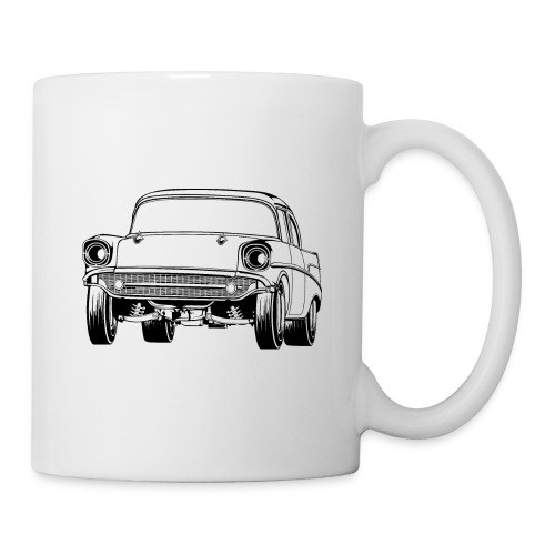 Gasser Up 1957 Chevy Drag Car - Coffee/Tea Mug